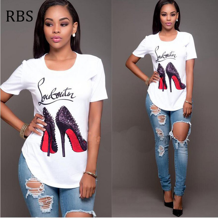 ceaf6f0c2 RBS New promotion Crazy Purchase Women Printed Tops Casual Female Girls T- shirts Plus Size