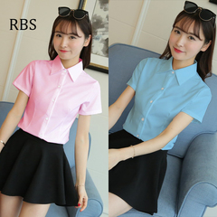 RBS New promotion Crazy Purchase Women's shirt high quality work wear office ladies tops business blue m