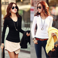 RBS New promotion Crazy Purchase The last 3 days High quality ladies T Shirt Long Sleeve Womens Tops white m