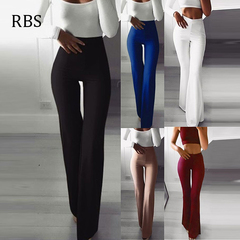 RBS 2019New product promotion lowest price high quality Trousers Elasticity High Waisted Pants Women black s