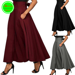 RBSNew promotion Crazy Purchase The last 3 days High quality ladies dresses Ankle-Length Women Skirt red s