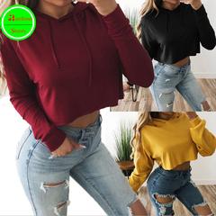 RBS Sweatshirt high quality Women Hoodies Crop Long Sleeve Pullover Female ladies Coat Casual red s