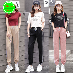 RBS 2019 New product promotion lowest price high quality Ladies sport pants Women Casual Trousers pink s
