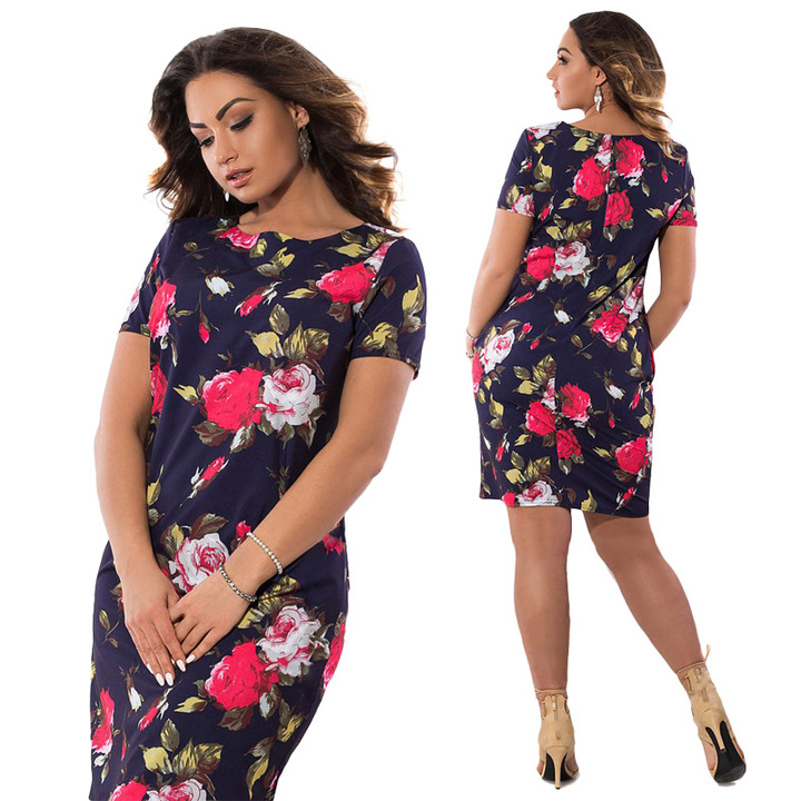 f896d354681 Fashion Autumn Floral Print Women Dress Vintage Plus Size women Clothing  Dresses 6xl 02