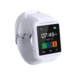 Smart Watches U80 Sport Pedometer Handsfree Bluetooth Smartwatch Wristband for Android Phone white