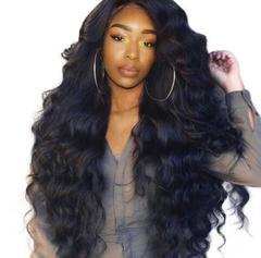 Big wavy long curly hair wigs  fluffy black long hair black 30*20*8cm