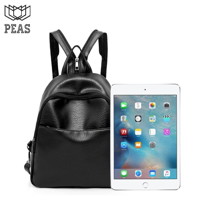 Backpack Women Black Leather Zipper Strap Shoulder Bag Girls School ... 34e939f01c954
