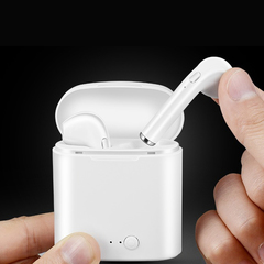 Mini Bluetooth Earphone With charging cell left and right ears wireless stereo twin ears  white white