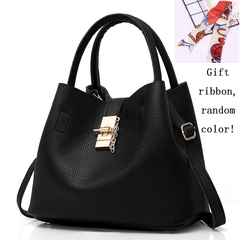 Fashion Women Bags Ladies Handbag PU Leather High Quality black 29cm by 13cm by 23cm