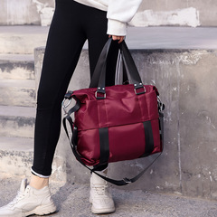 Women's Oxford Hand-held Waterproof Shopping Travel Commuting wine red 42cm by 17cm by 31cm