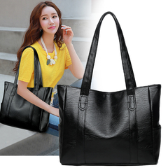 Commuter Bag Handbags for Ladies PU leather bags with large capacity black 34cm by 12cm by 29cm