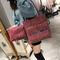 High-quality 2Pcs/Set handbag for women PU leather  Commuter big Bag red 32cm by 11cm by 23cm