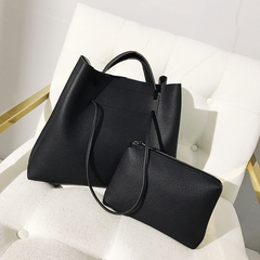 LARAINE Brand Tote PU Leather Women Bags Handbags for Ladies Large  Handbags Single Shoulder Bag black 34.5cm by 13cm by 28cm