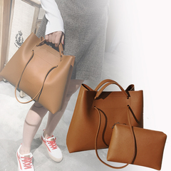 Time-limited Crazy Discount:2Pcs/Sets Women Bags PU Leather Shoulder Bags Large  Handbags brown 34.5cm by 13cm by 28cm