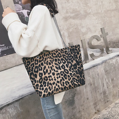 Leopard pattern tote bag PU Leather shoulder bag Handbags for Ladies Leopard Print 40cm by 12cm by 26cm
