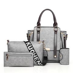 LARAINE 4Pcs/Set High-quality Handbags for Women Commuter  Bag gray one size
