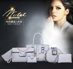 LARAINE 6Pcs/Set Handbags for Ladies gray one size