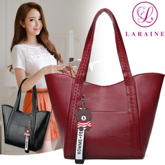 LARAINE Handbags for Ladies PU Leather  Large Capacity Handbags for Women red 25cm by 10cm by 27cm