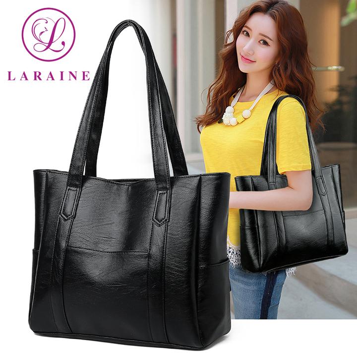 LARAINE New Fashion Large Capacity Women's Handbag black 34cm by 12cm by 29cm