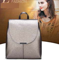 Backpacks for Ladies PU Leather Pure Color champagne one size