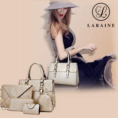 LARAINE 5Pcs/Set Handbags for Ladies golden one size