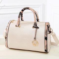 LARAINE Fashion Handbags for Ladies PU Leather High Quality Handbags Barrel Type white one size