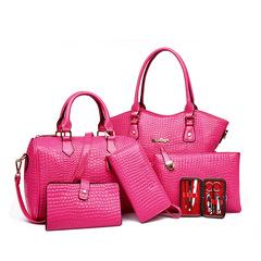 LARAINE 6Pcs/Set Handbags for Ladies pink one size