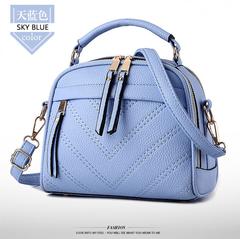 LARAINE Fashion Handbags for Ladies PU Leather High Quality Handbags upgrade blue one size