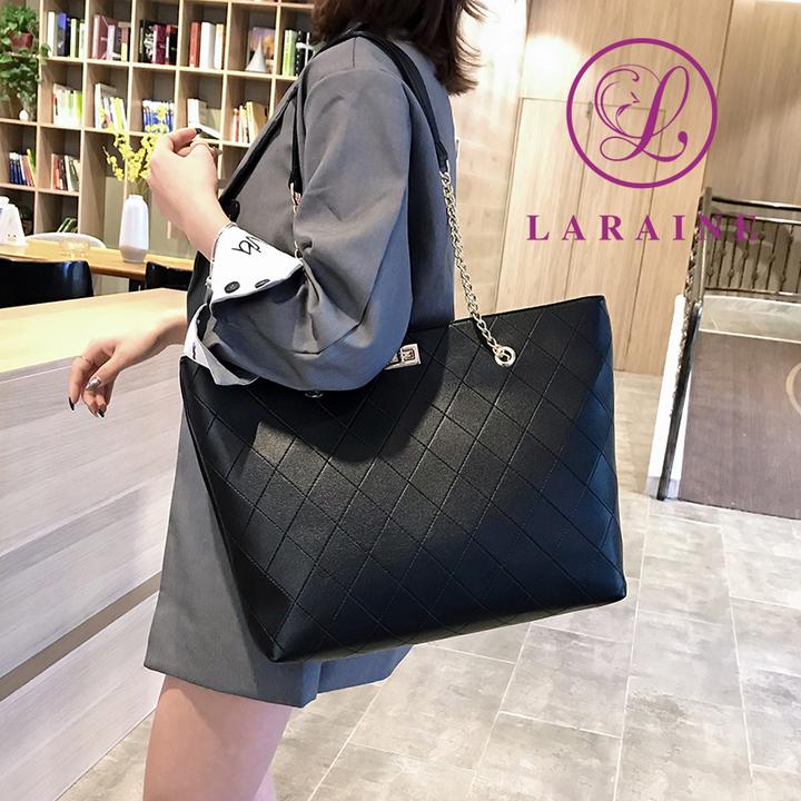 113131e01e7 LARAINE Brand Tote PU Leather Women Bags Handbags for Ladies Large Handbags  Single Shoulder Bag black 45cm by 12cm by 30cm