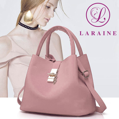 LARAINE Fashion Handbags for Ladies PU Leather High Quality Handbags for Women pink 29cm by 13cm by 23cm
