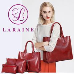 LARAINE 3Pcs/Sets Women Handbags Leather Shoulder Bags red one size