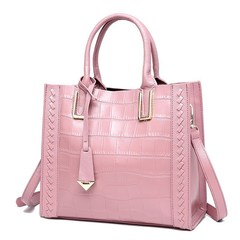 LARAINE Cow Leather Handbags for Ladies pink one size