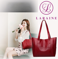 LARAINE New Fashion Large Capacity Women's Handbag red 34cm by 12cm by 29cm