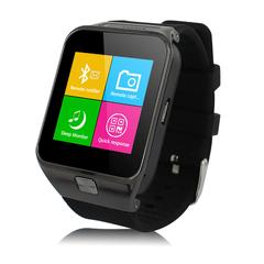 ZGPAX Bluetooth Smart Watch with Camera Unlocked SIM Phone Watch Sync Black