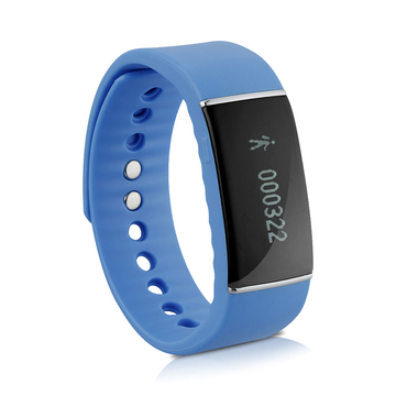 DIGGRO OLED Smart Bracelet IP67 Waterproof Bluetooth 4.0 Pedometer Tracking Calorie Blue One Size