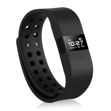 DIGICare Waterproof IP67 Touch Screen Bluetooth V4.0 Smart Bracelet Fitness Tracker Black One Size