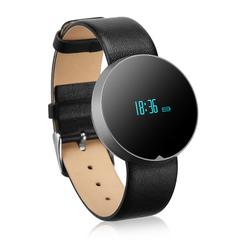 Excelvan Pai OLED Smart Health Bracelet Bluetooth 4.0 Calls Remind SMS Notification Black One Size