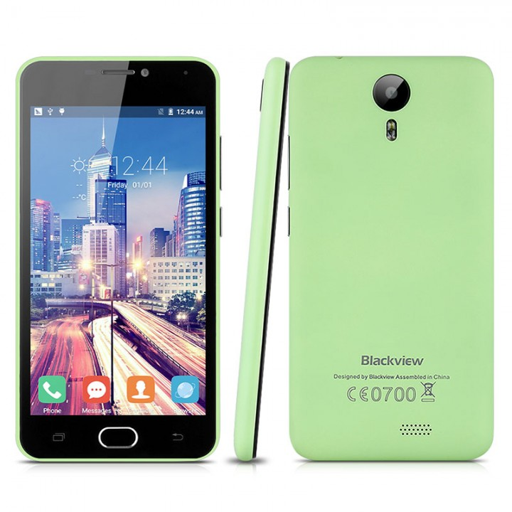 Blackview BV2000 5.0'' Android 5.1 MT6735P Quad Cores 1.0GHz RAM 1GB + 8GB ROM SmartPhone Green