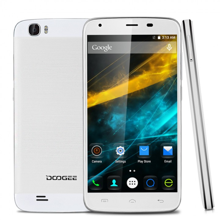 5.5'' DOOGEE T6 IPS Android 5.1 Lollipop MT6735 Quad Core 1.0GHz Smartphone EU White