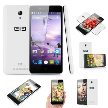 "Elephone P6000 Pro 5.0"" Android 5.1 64bit MTK6753 Octa Core 1.3GHz 3GB RAM + 16GB ROM  Smartphone White"
