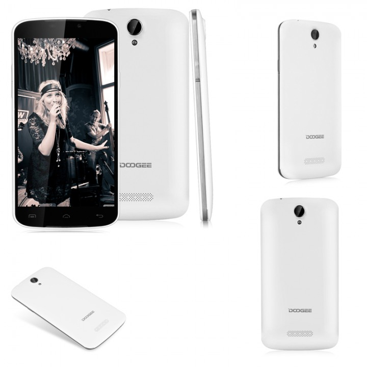 5 5'' DOOGEE X6 Pro IPS Android 5 1 Lollipop MT6735 Quad Core 1 0GHz 2GB  RAM 16GB ROM White