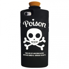 Poison Black Silicon Gel Rubber Cartoon Case Cover Skin for iPhone 6 / 6S black one size
