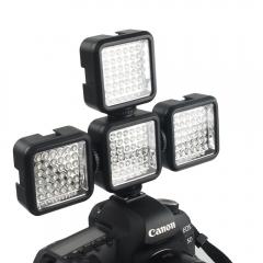 36 LED Video Light Lamp + Battery + Charger Nikon / Canon For DV Camcorder DSLR black