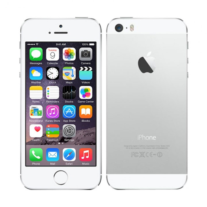 "iPhone 5S Original Unlocked Apple Mobile Phone Dual Core 4"" IPS 8MP 1080P Refurbished Smartphone sliver"