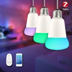 Jiawen Zigbee Bulb Smart Bulb Wireless Bulb APP Control Work with Zigbee Hub Snow White one size one size