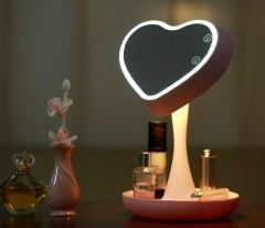 Ovonni 3-In-1 LED Lighted Makeup Mirror with 3X Magnifying Glass Pink one size