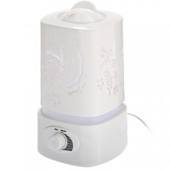 5 in 1 Ultrasonic Aroma Humidifier Aroma Oil Diffuser Air Purifier Ioniser LED Light Lamp 1.5L White one size