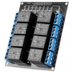 Arduino Compatible AC / DC 8 Channels Relay Module Extension Board 250V AC and 30V DC 10A per Channel as the picture one size