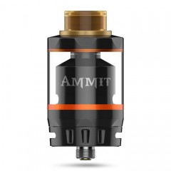 Original Geekvape Ammit RTA Dual Coil Version with 3ml / 6ml / Postless Deck Design for E Cigarette Silver one size