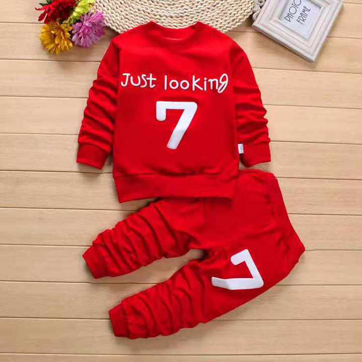 6cadd68a4089 D-baby Boys Clothes Spring Autumn Casual Children Clothing Set Long Sleeve  Shirts Pants Kids